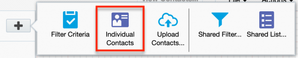 Add Individual Contacts to Segment
