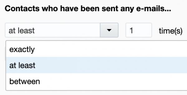 Oracle Eloqua Segmentation - sent At Least One Email