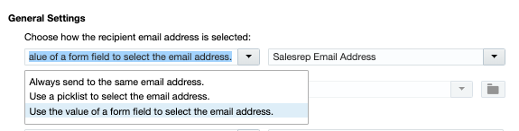 Send Notification - Form Field