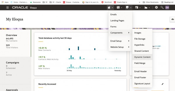 Creating Dynamic Content in Oracle Eloqua